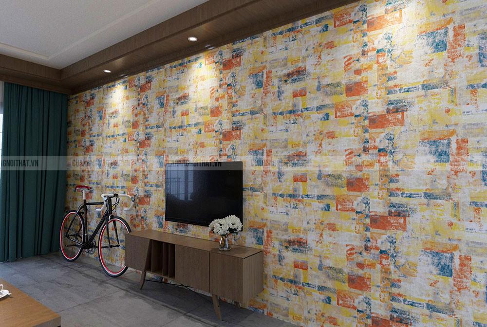 Giấy dán tường phong cách Hàn Quốc